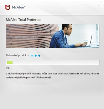 McAfee Total Security: instalace kapku trvá