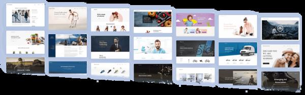 Šablony webů postavených na Webnode (Zdroj: team.blue)