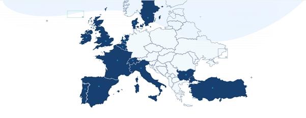Akvizice team.blue v Evropě a v Turecku (Zdroj: team.blue)