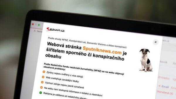 Seznam označuje dezinformační weby (Zdroj: Seznam.cz)