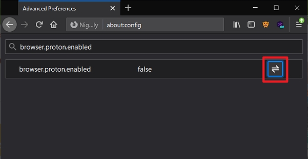 Postupujeme: about:config - browser.proton.enabled - true - restart Firefoxu