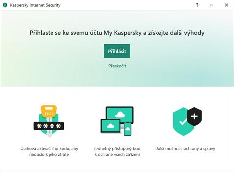 Lepší je se rovnou i přihlásit ke cloudovému účtu My Kaspersky (Zdroj: Kaspersky Internet Security)