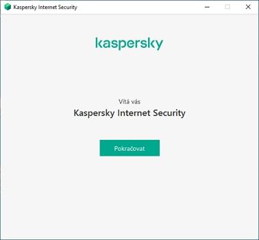 Kaspersky uvítá češtinou (Zdroj: Kaspersky Internet Security)