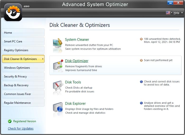 Několik nástrojů pro čištění a správu úložišť (Zdroj: Advanced System Optimizer)