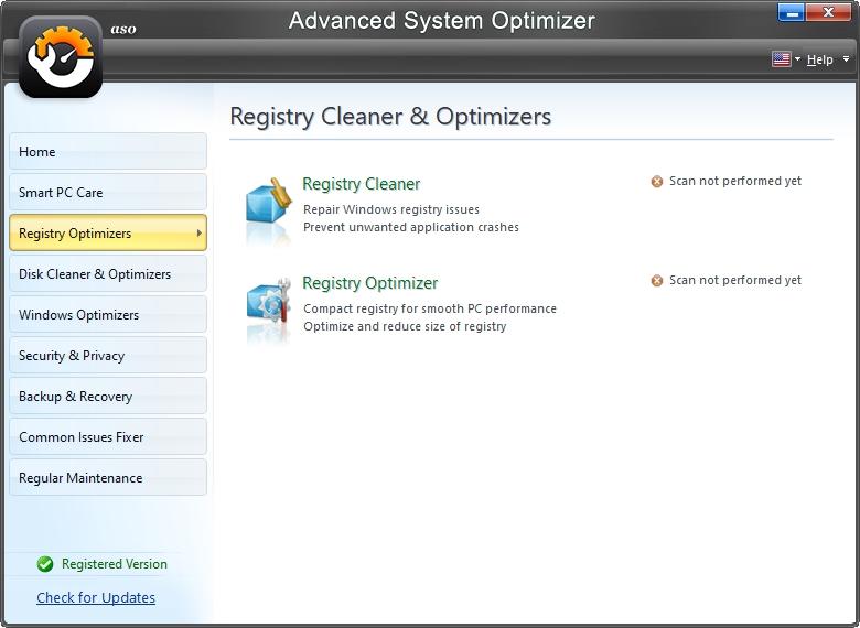 Optimalizace registru nabízí jeho čištění a defragmentaci (Zdroj: Advanced System Optimizer)