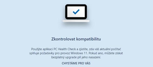Oficiální nástroj PC Health Check je momentálně nedostupný (Zdroj: Microsoft.com)