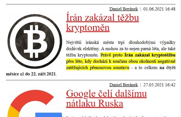 Finální podoba textu zvýrazněného pomocí Scroll to Text (Zdroj: Google Chrome)