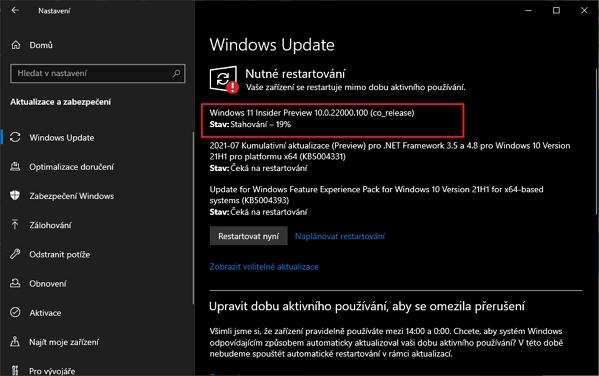 Po restartu otevřeme Nastavení - Aktualizace a zabezpečení - Windows Update a dáme Zkontrolovat aktualizace (Zdroj: Windows 10)
