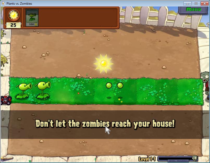 plants vs zombies první pruh