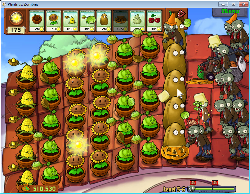 Plants vs Zombies: střecha