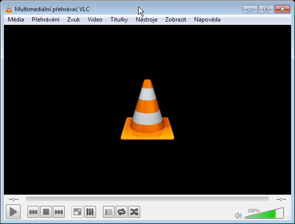 Klasická obrazovka VLC
