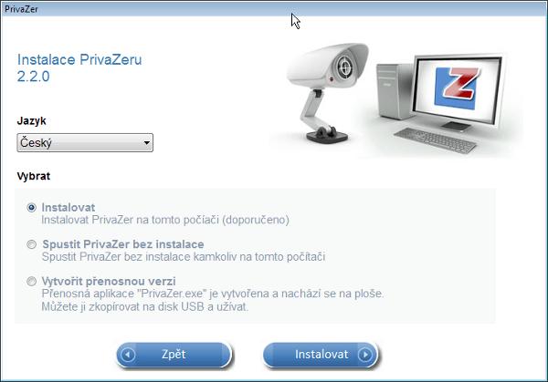 Instalace programu PrivaZer