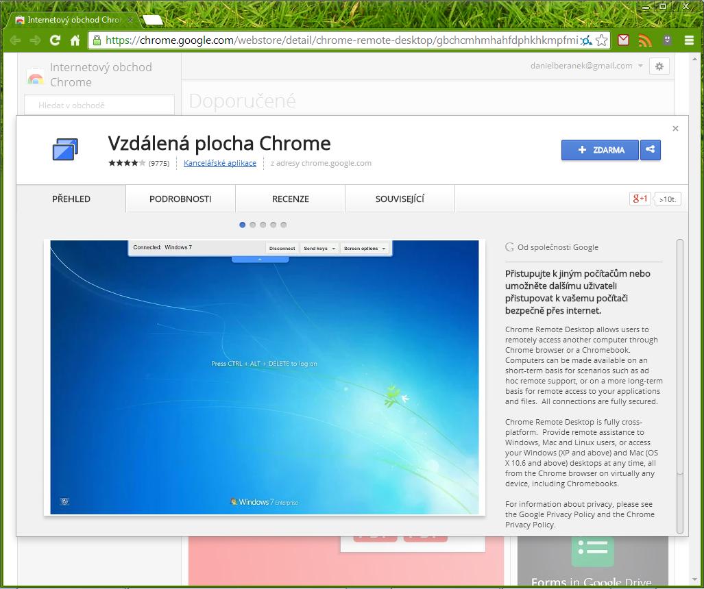 Plugin z Internetového obchodu Chrome