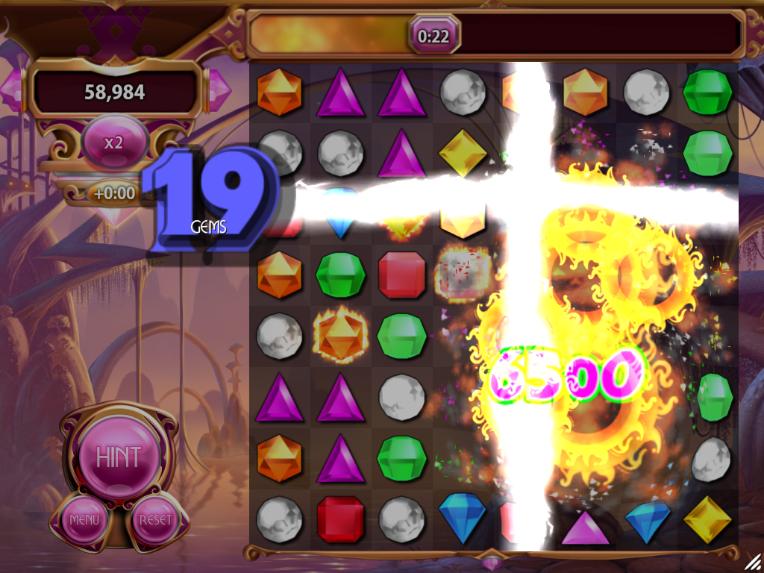 Gejzíry blesků a výbuchy flame gemů
