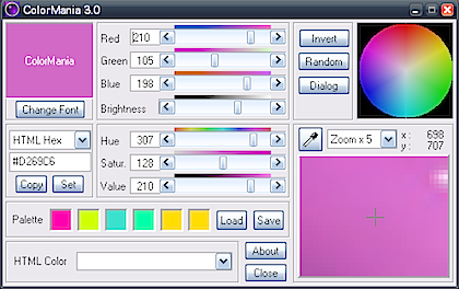 Jak snadno měnit pomocí programu ColorMania barvy?
