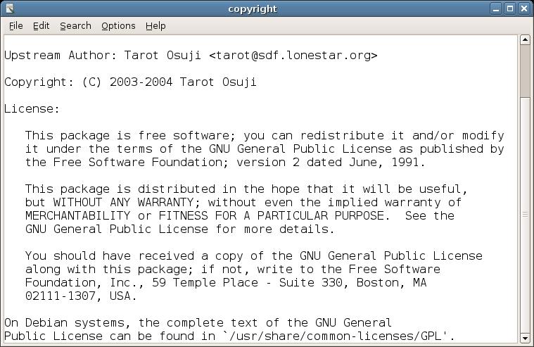 Leafpad - jednoduchý textový editor