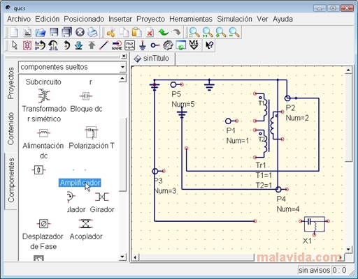 Potřebujete simulovat elektronické obvody?