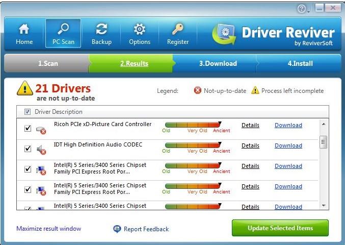Driver Reviver, nalezne a aktualizuje vaše staré ovladače