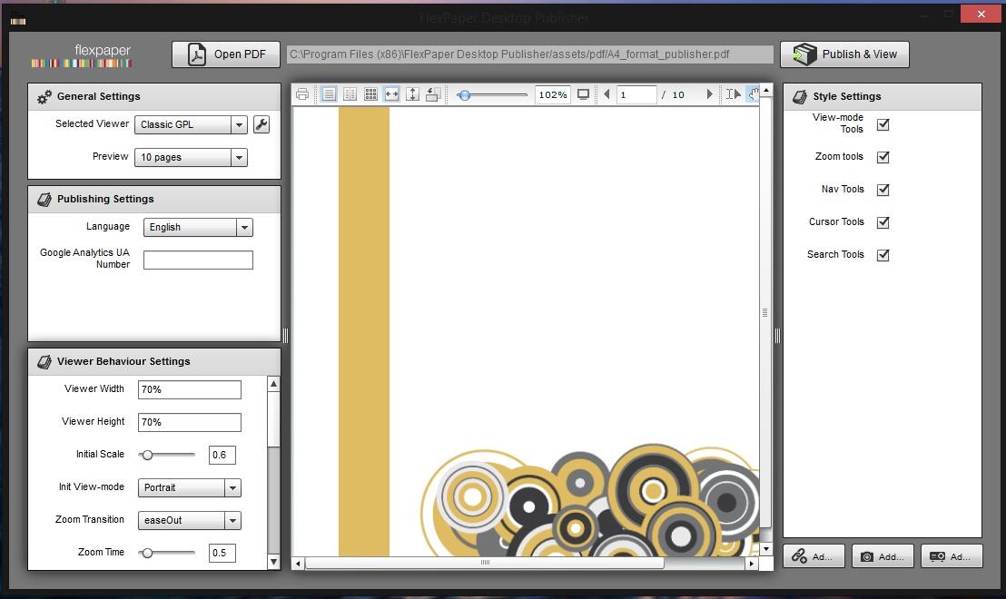 FlexPaper Desktop Publisher, vytvoří PDF publikace na internet