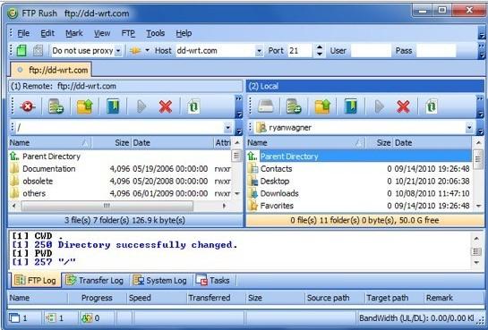 FTP Rush, jednoduchý, ale skvělý FTP klient