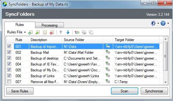 SyncFolders, rychlá a spolehlivá synchronizace dvou složek