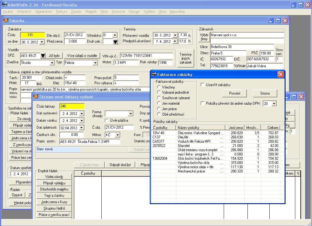 AdmWinDE - snadný účetní program