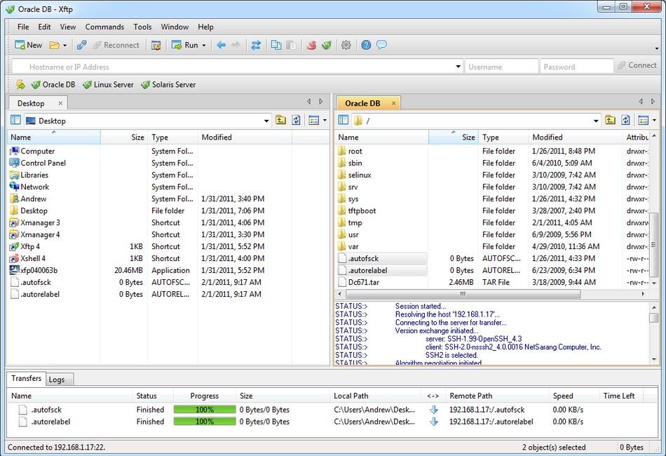 Xftp, spolehlivý FTP klient a souborový manažer