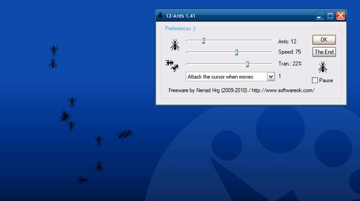 12-Ants - mravenci na vaši obrazovce