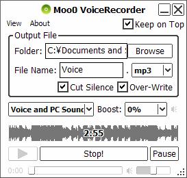 Moo0 VoiceRecorder - snadný záznam zvuku