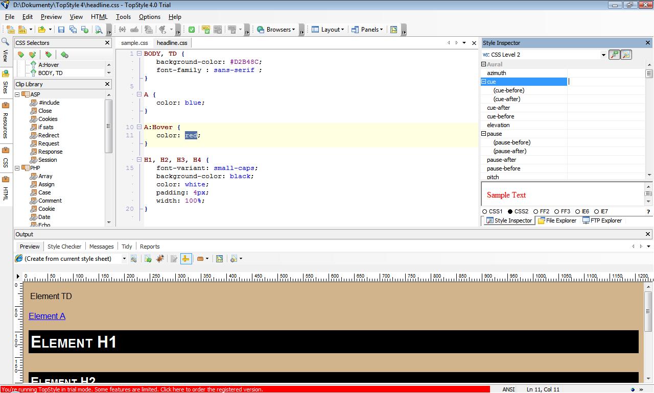 TopStyle - snadná tvorba HTML a CSS