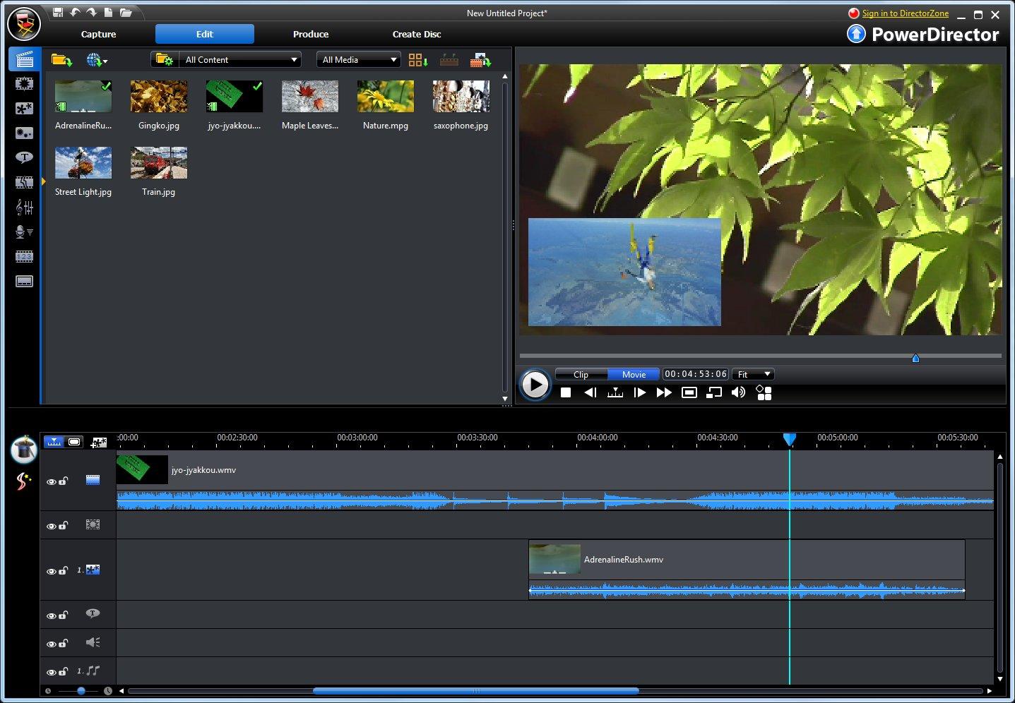 CyberLink PowerDirector - střih a práce s videem