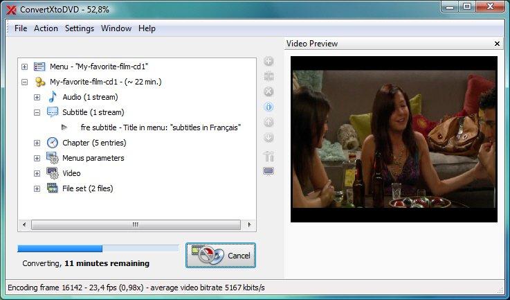 ConvertXtoDVD - převod video souborů do DVD