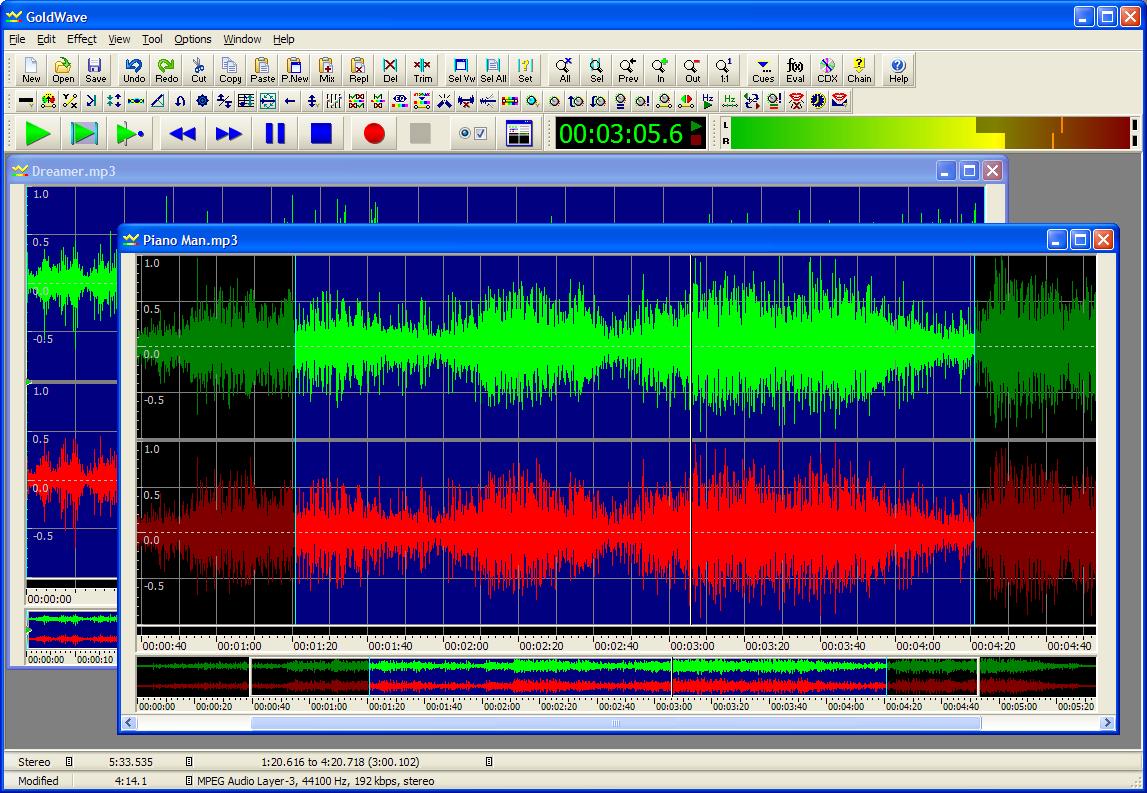 GoldWave - nástroj na úpravu audia