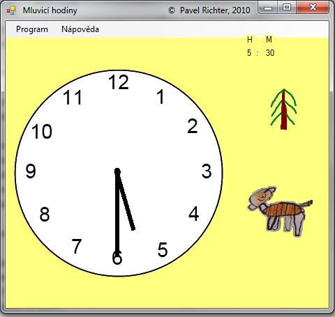 Mluvicí hodiny - učíme děti kolik je hodin