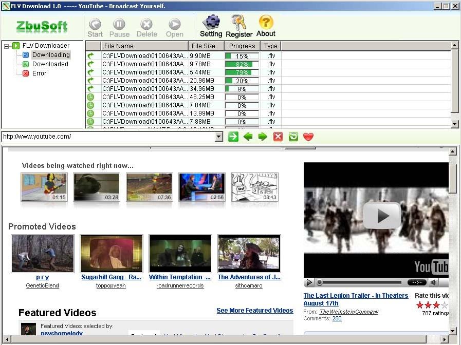 FlvDown, program pro stahování Flash videí