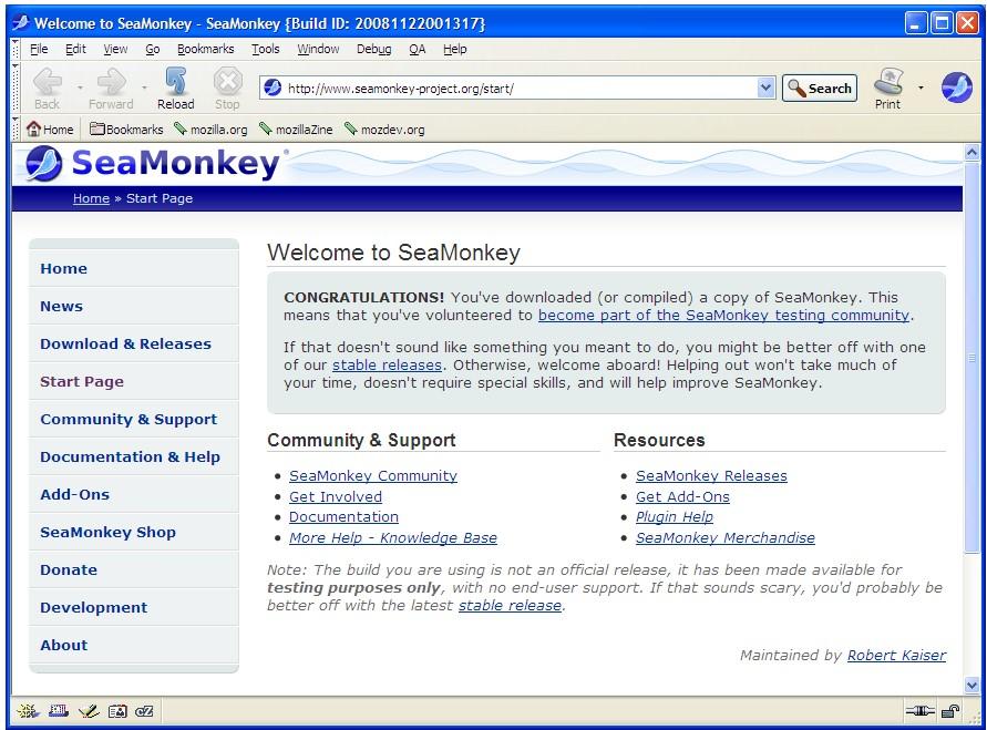 SeaMonkey, vše co potřebujete v jediném programu