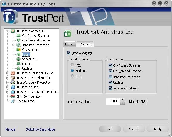Trust Portal Protection, komplexní zabezpečení počítače proti virům, spyware apod.