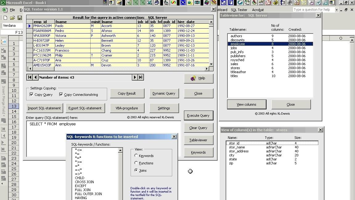 SQL Tester - testujeme SQL příkazy