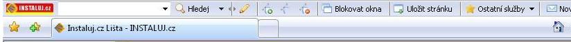 Instaluj.cz lišta, další funkce pro váš prohlížeč
