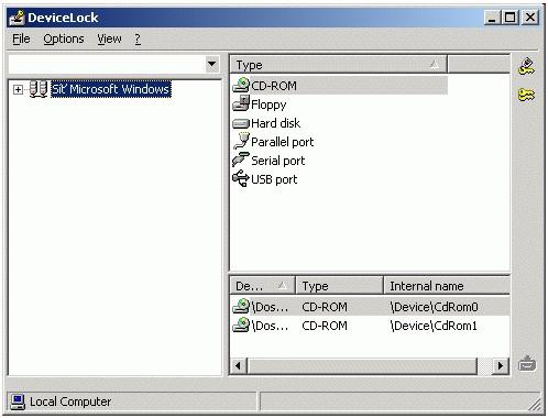DeviceLock, správa přístupu k zařízení v síti