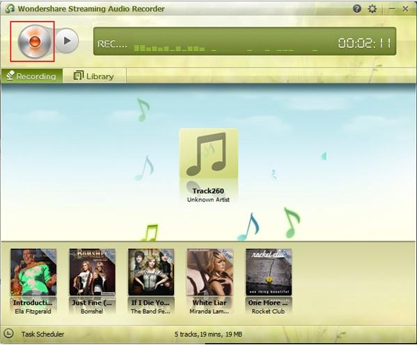 Streaming Audio Recorder, nahrávání, ukládání a editování muziky