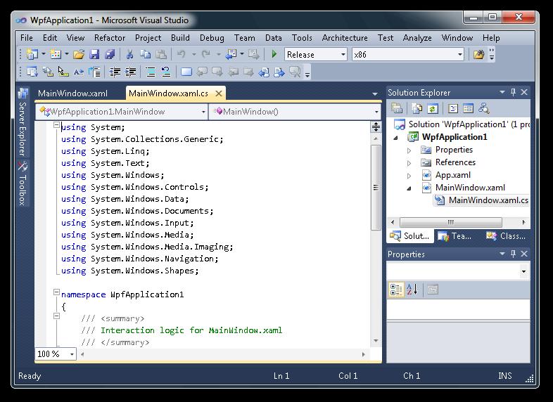 Visual Studio - aplikace pro pokročilý vývoj
