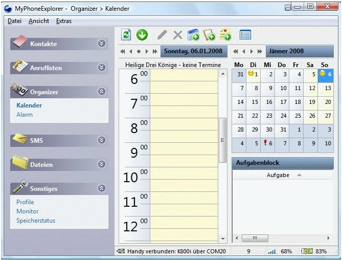 MyPhoneExplorer, administrace vašeho mobilního telefonu