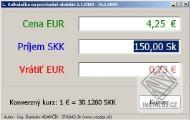 Prechodná EURO kalkulačka na obdobie 1.1.2009 - 16.1.2009