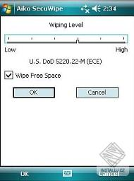 SecuWipe for Pocket PC