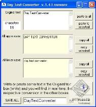 Day Text Converter