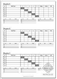 Tiskové šablony pro sportovní soutěže