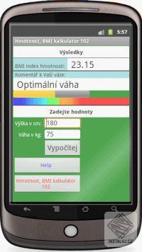 Kalkula�ka t�lesn� hmotnosti OS Android