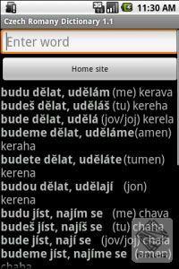Česko - romský slovník pro Android
