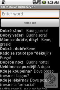 Czech Italian phrases - česko italské fráze pro Android